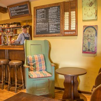 The Olive Branch Bar, Lambing Chair, wines on blackboards
