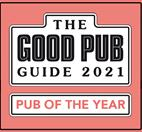 The Good Pub Guide Award Winner, Rutland & Leicestershire Dining Pub of the Year 2018