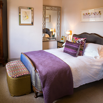 Aubergine Bedroom, Beech House, The Olive Branch, Clipsham, Rutland